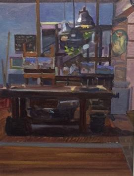 """Ken Howard's Venetian Studio 12"""" x 16"""" £250 (AVAILABLE)"""