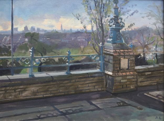 "April Morning View over Crouch End 12"" x 16"" SOLD"