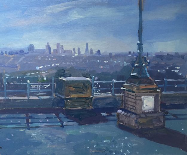 "The City from Alexandra Palace (Late September morning) 10"" x 12"" £250"
