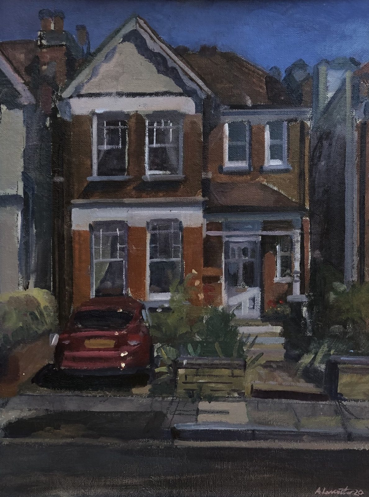 "77 Redstone Road, Crouch End. 16"" x 12"" (Sold)"