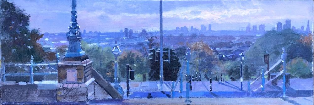 Autumn Morning, Alexandra Park Panorama 8 x 24 £495