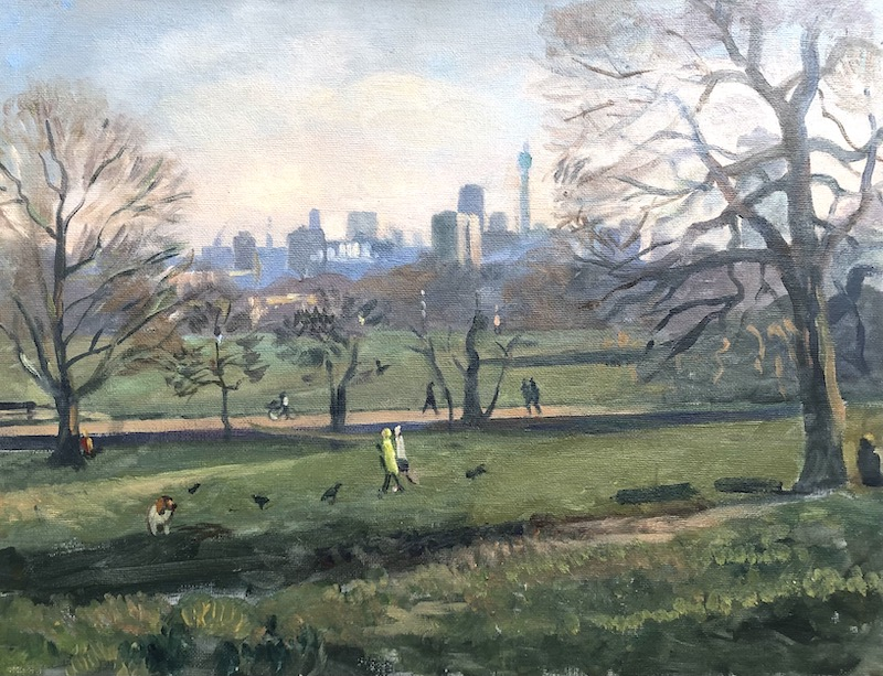 "Cold Spring Afternoon, Parliament Hill. London 12"" x 16"" £275"