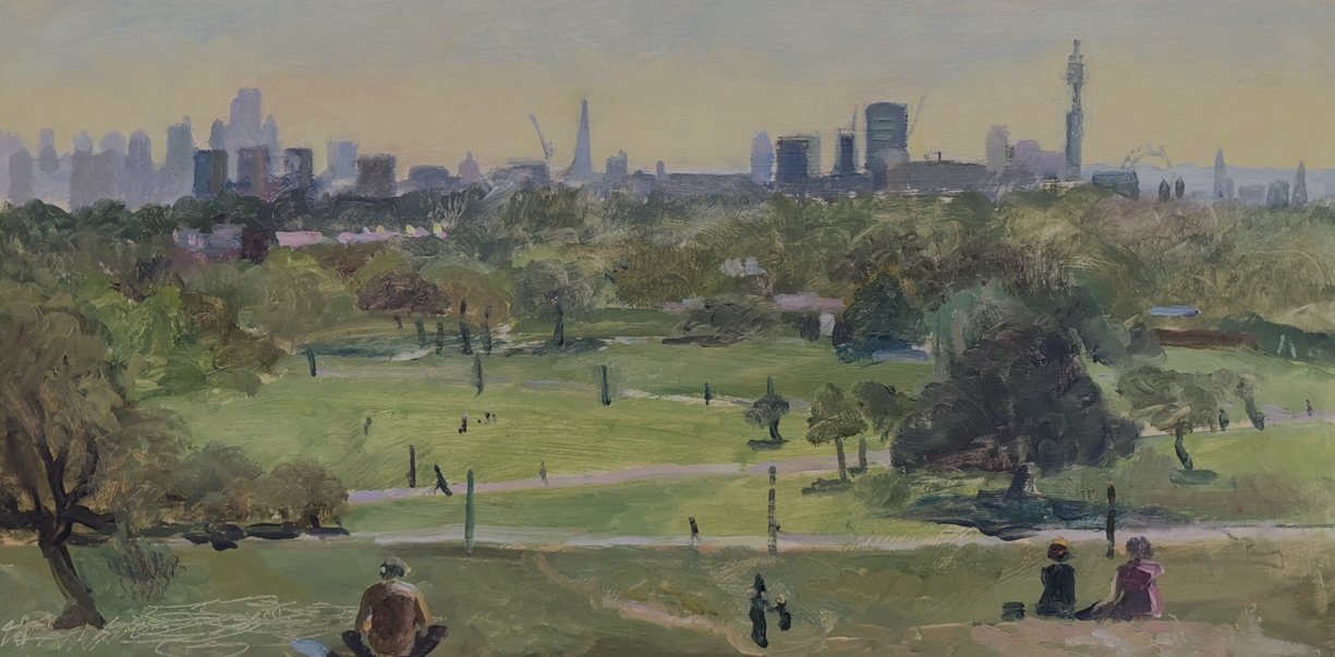 Early September Morning Primrose Hill 10 x 20 (Sold)