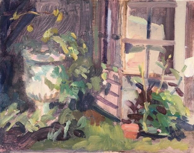FARRER URN AND SUMMERHOUSE 8 X 10 ON 7TH APRIL (SOLD)