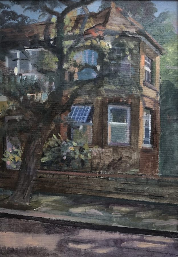 """House in the Park. 16"""" x 12"""" (Sold)"""