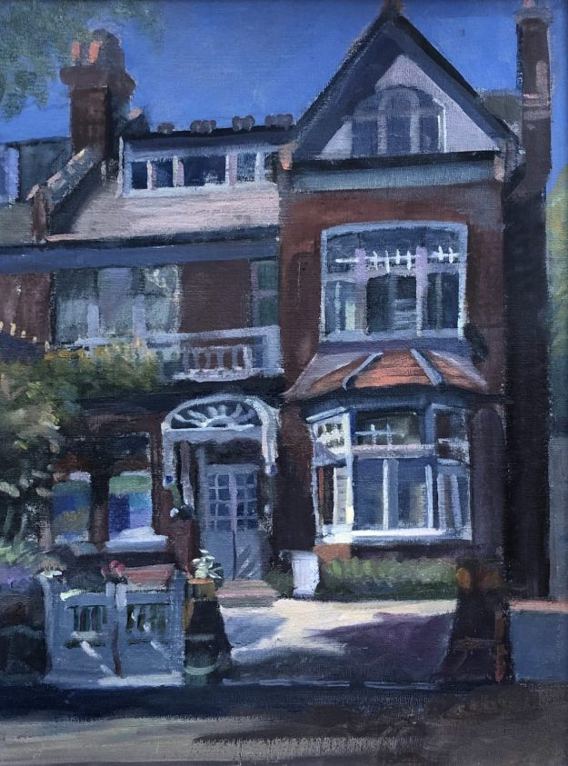 """26 Princes Avenue, Muswell Hill 12"""" x 16"""" (Sold)"""