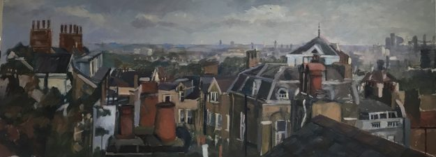 Rooftop View Over Hampstead 12 x 31 (SOLD)