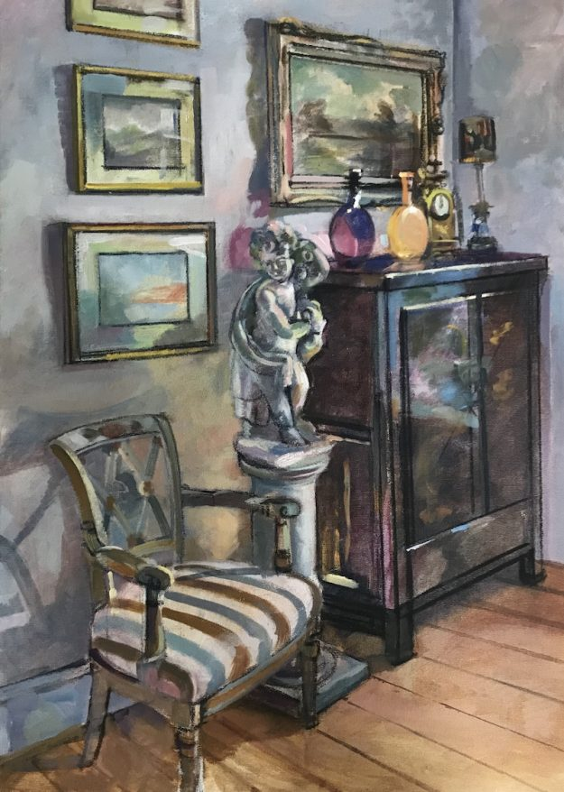 Interior with a Stone Statue (SOLD)