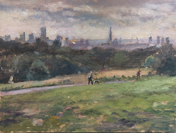 Looking towards St Anne's Highgate 12 x 16 (SOLD)