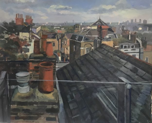 Roof with a View. Hampstead 20 x 24 £495 (FOR SALE)