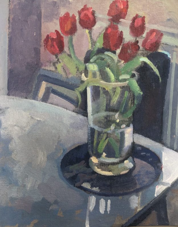 Spring Poppies 8 x 10 (SOLD)