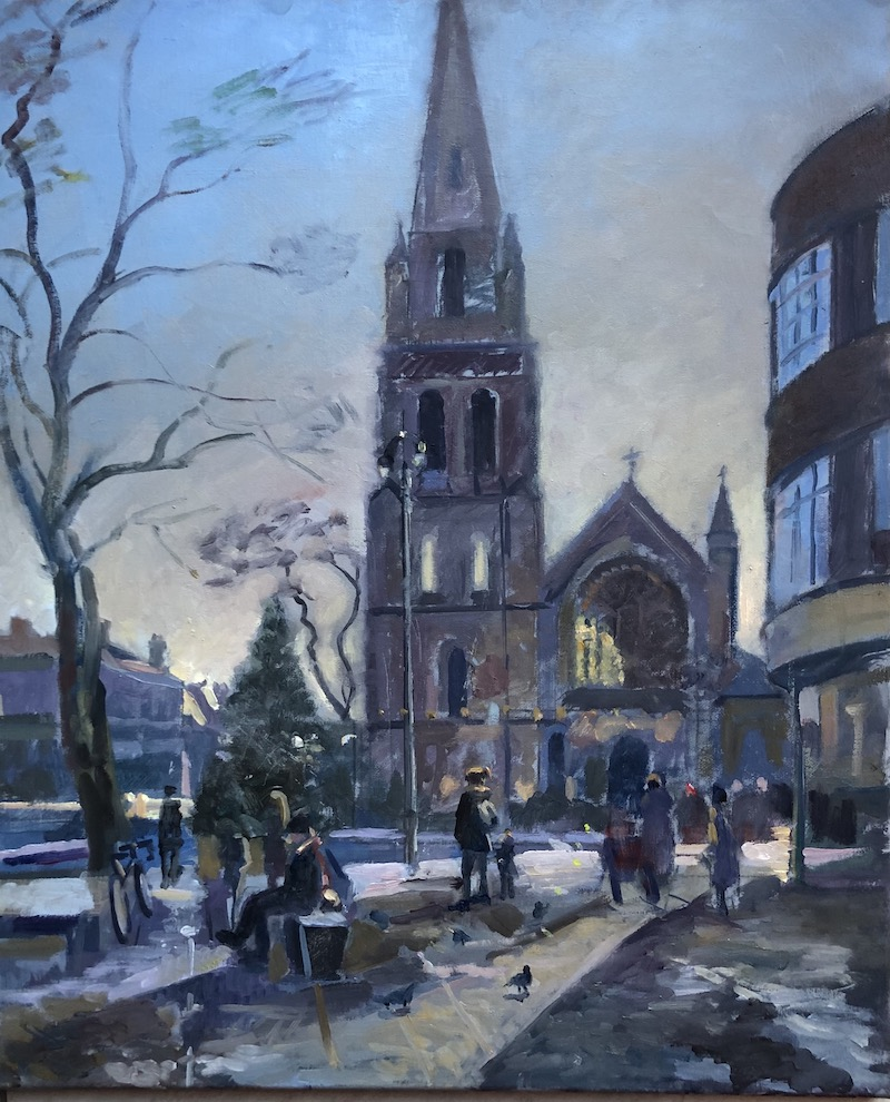 St Jame's Church After Snowfall 20 x 24 £495.00 (available)