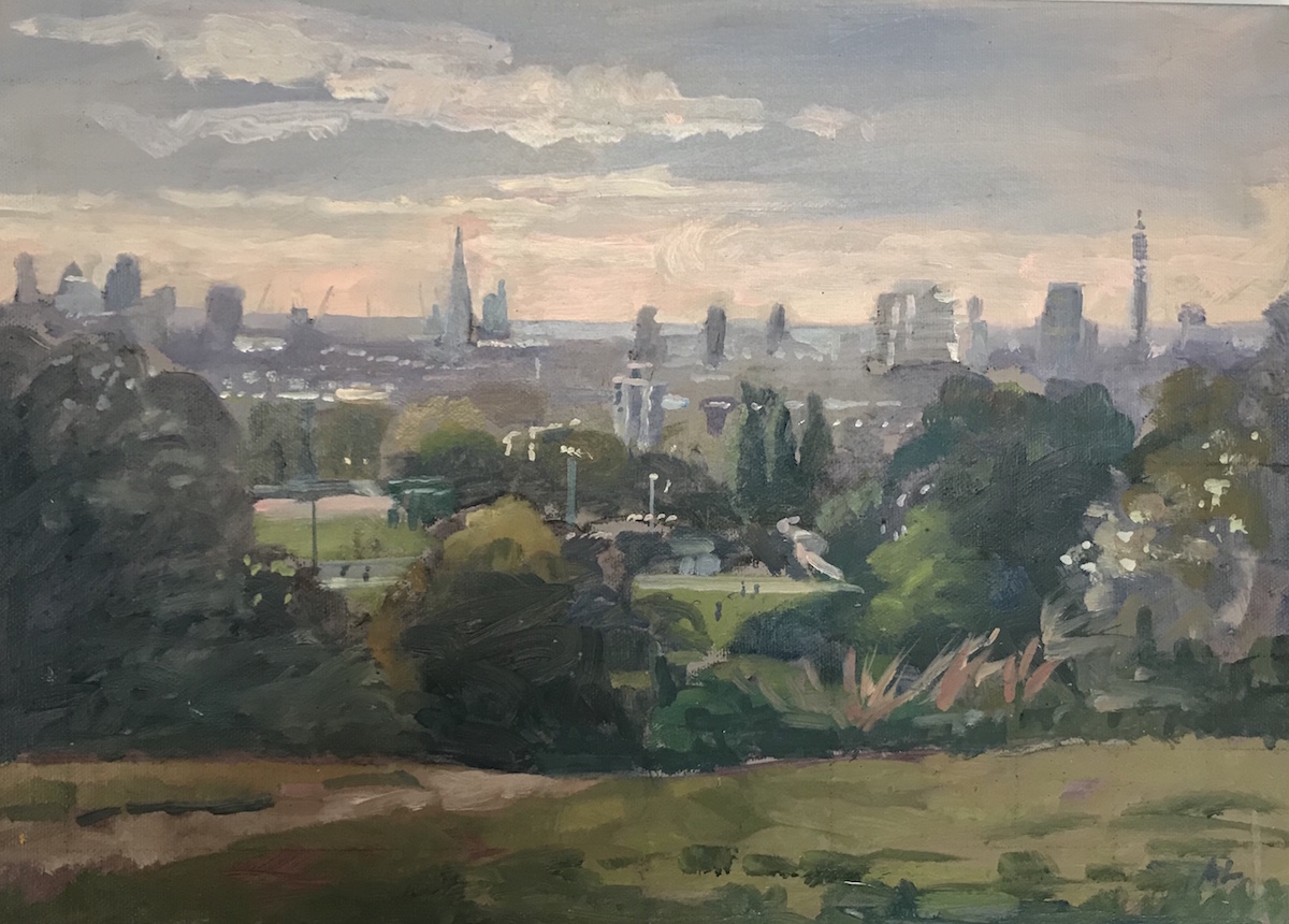 The City from Parliament Hill 10x 14 £325