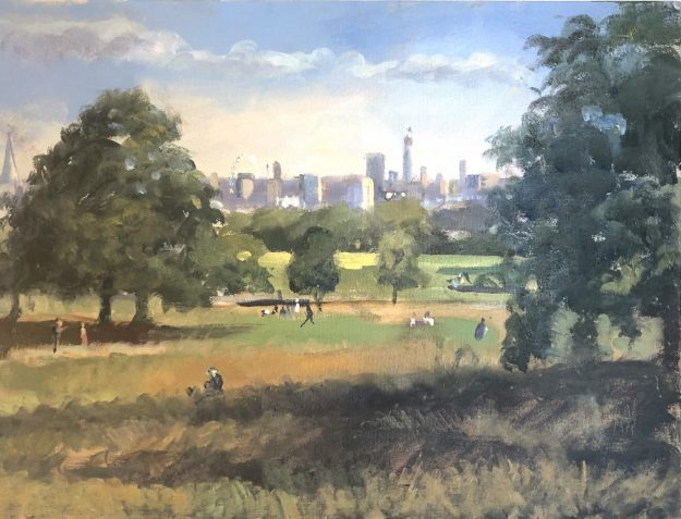 The City from Parliament Hill, Mid Level 12 x 16 (SOLD)