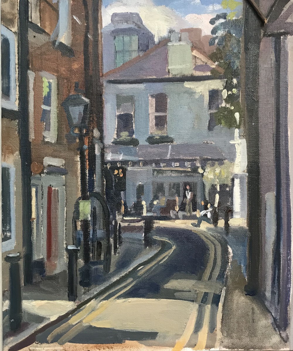 The Hollybush Hampstead (Summer Afternoon) 10 x 12