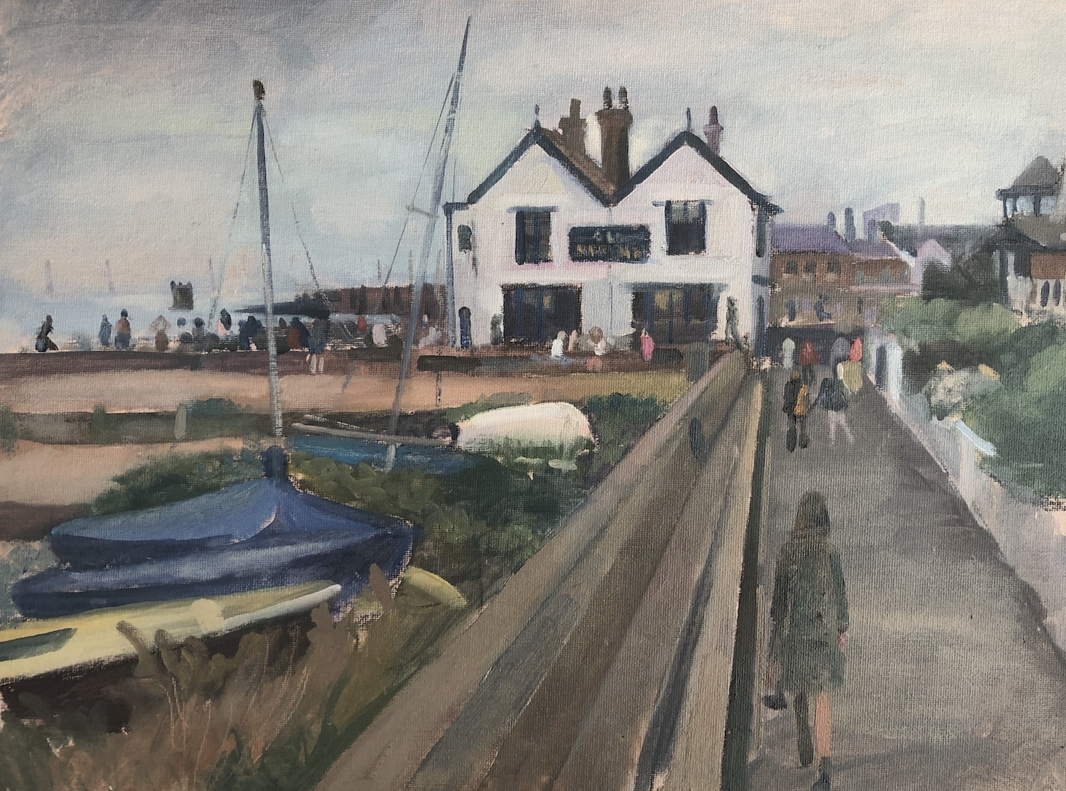 """The Neptune. Whitstable 12"""" x 16"""" Available £250"""