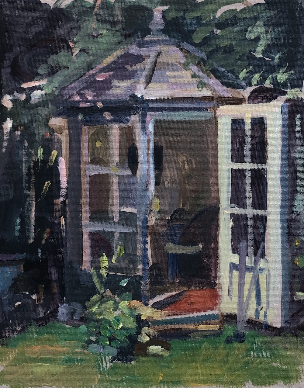 "The lockdown summer house. Farrer Road 8"" x 12"" (SOLD)"