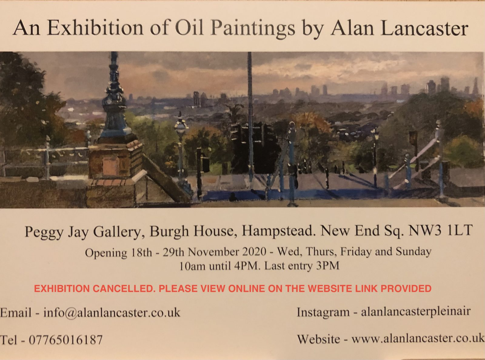 Alan Lancaster Painting exhibition